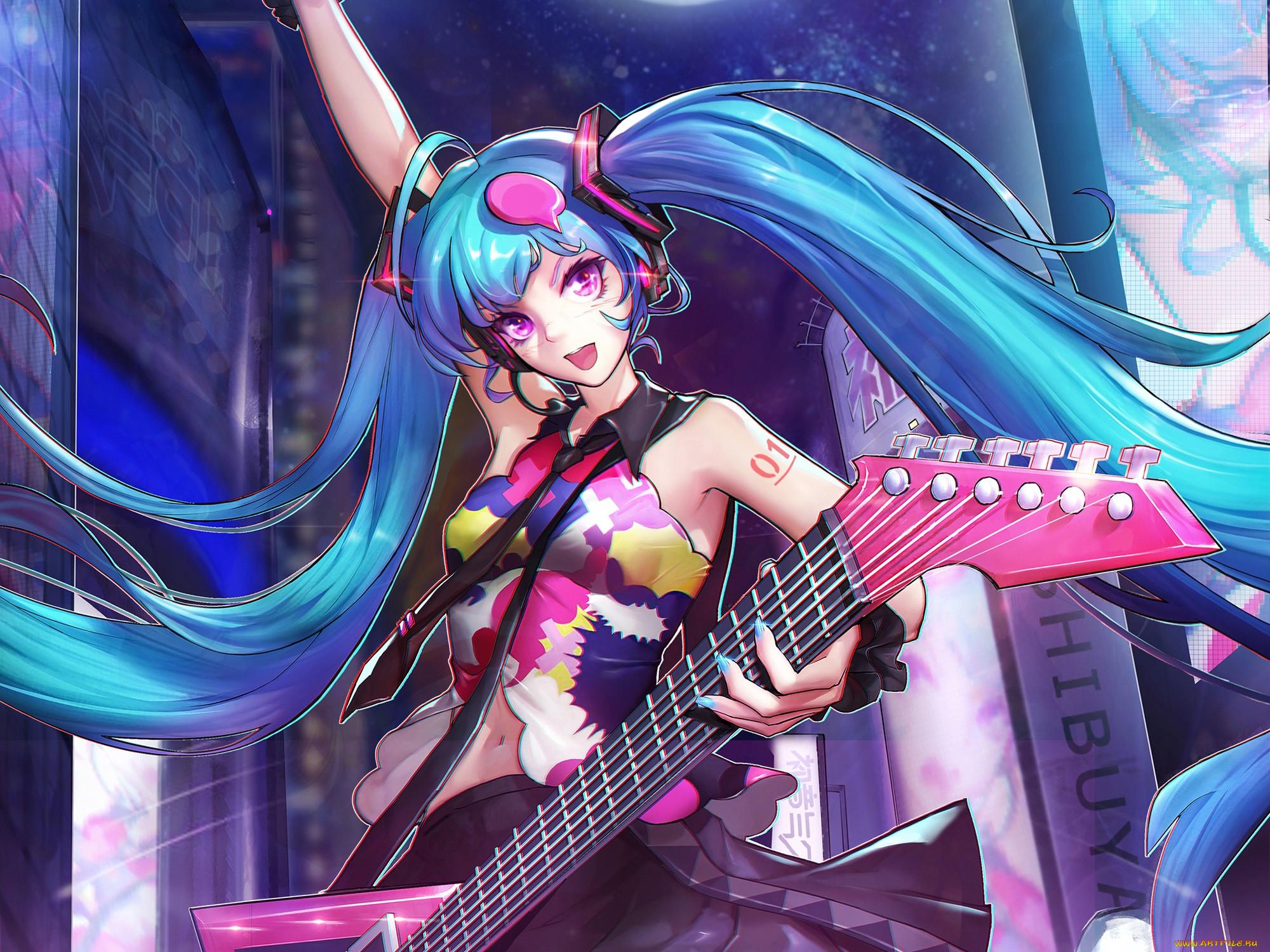 Картинки аниме музыкальная